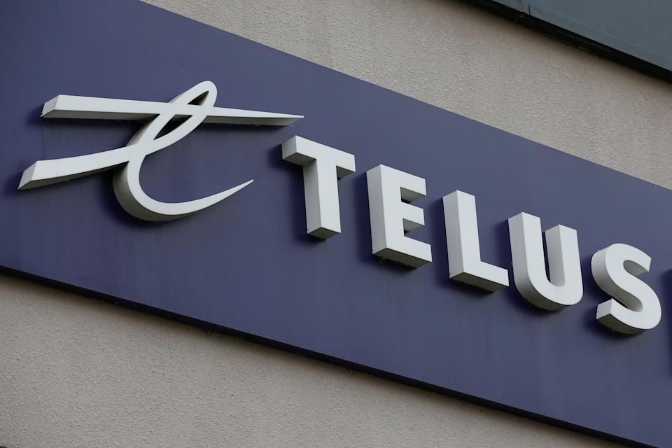 A Telus Corporation sign is pictured in Ottawa, Ontario, Canada, November 8, 2017. REUTERS/Chris Wattie