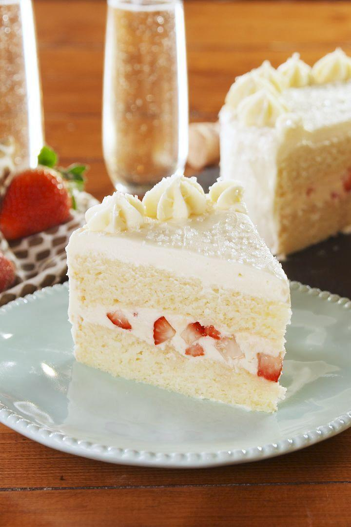 """<p>This champagne cake with fresh strawberry frosting will help you say cheers to having the most incredible mother. <br><br><em><a href=""""https://www.delish.com/cooking/recipe-ideas/a26044022/champagne-cake-recipe/"""" rel=""""nofollow noopener"""" target=""""_blank"""" data-ylk=""""slk:Get the recipe at Delish »"""" class=""""link rapid-noclick-resp"""">Get the recipe at Delish »<br></a></em></p>"""