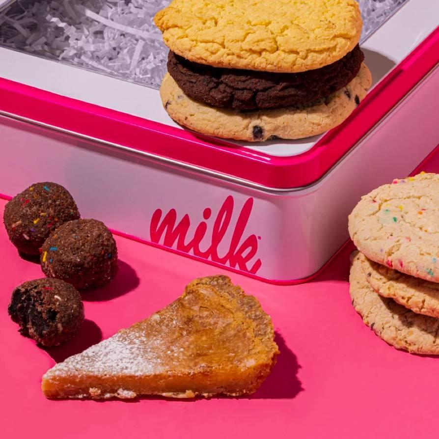"You can't go wrong with world famous sweets from Milk Bar, especially when they come in this reusable (and super cute!) tin. $50, Milk Bar. <a href=""https://milkbarstore.com/collections/gift-shop/products/chocolate-bakery-gift-boxes#!search"" rel=""nofollow noopener"" target=""_blank"" data-ylk=""slk:Get it now!"" class=""link rapid-noclick-resp"">Get it now!</a>"