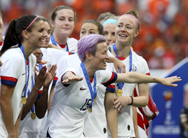 The USWNT players filed a motion to appeal the equal pay ruling in U.S. Soccer Federation's favor. (AP Photo/David Vincent)