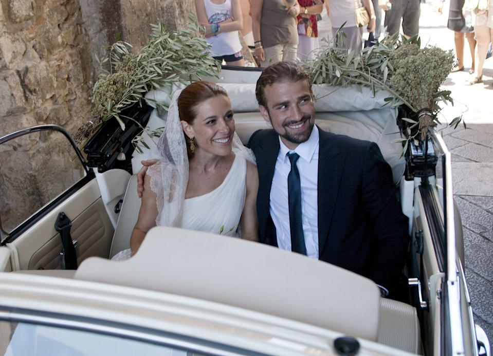 TAORMINA, ITALY - JUNE 22:  Raquel Sanchez Silva and Mario Biondo are seen getting married on June 22, 2012 in Taormina, Italy.  (Photo by Europa Press via Getty Images)