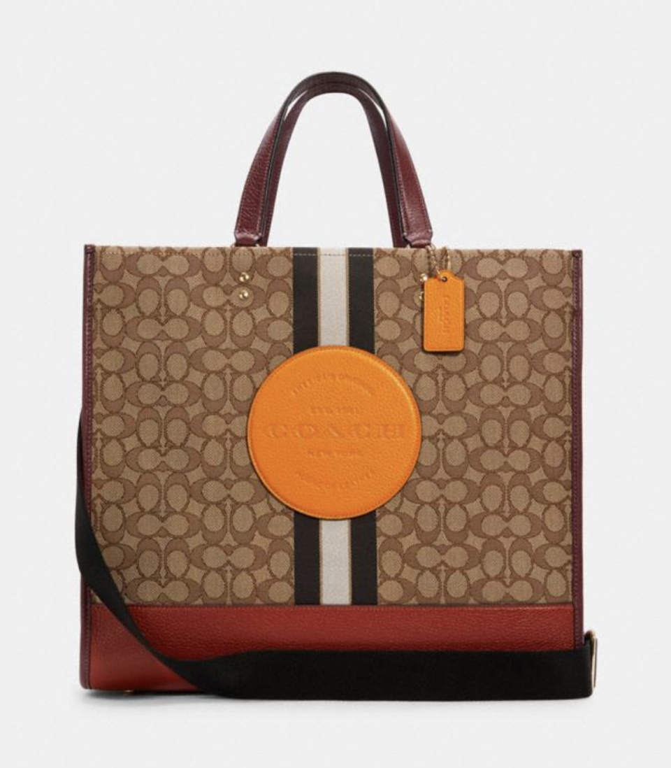 Dempsey Tote 40 in Signature Jacquard (Photo via Coach Outlet)