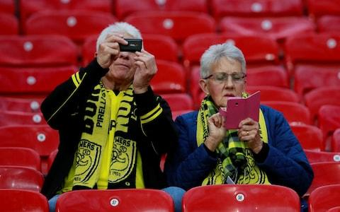 Burton fans take their seats early - Credit: JASON CAIRNDUFF/ACTION IMAGES