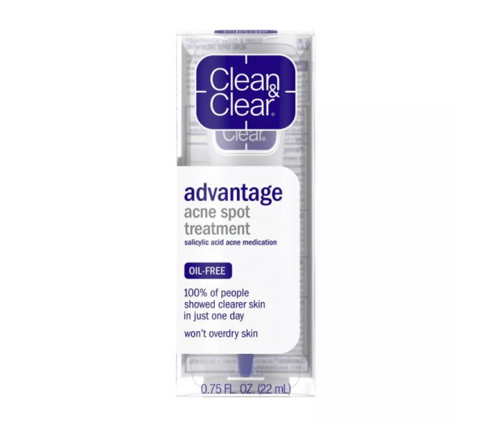 "<p><strong>Clean & Clear</strong></p><p>target.com</p><p><strong>$6.49</strong></p><p><a href=""https://www.target.com/p/clean-clear-advantage-acne-spot-treatment-0-75-oz/-/A-14791677"" rel=""nofollow noopener"" target=""_blank"" data-ylk=""slk:SHOP IT"" class=""link rapid-noclick-resp"">SHOP IT</a></p><p>Behold, a drugstore staple that starts working in as little as four hours. Salicylic acid and witch hazel pair together to clear out clogged pores and calm inflammation for smooth, blemish-free skin. </p>"
