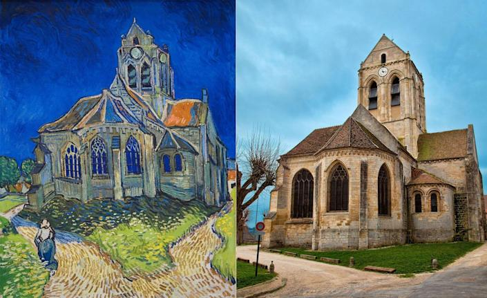 During his short stint living in Auvers-sur-Oise, Van Gogh was, at times, completing a painting per day. Visitors who take the hour-long train ride north of Paris can walk through a town that is filled with landmarks the Dutch master recreated with the flick of a wrist. <em>The Church at Auvers</em>, one of Van Gogh's most famous works, was painted during the final months of his life. The church itself is located very close to the artist's final resting place.