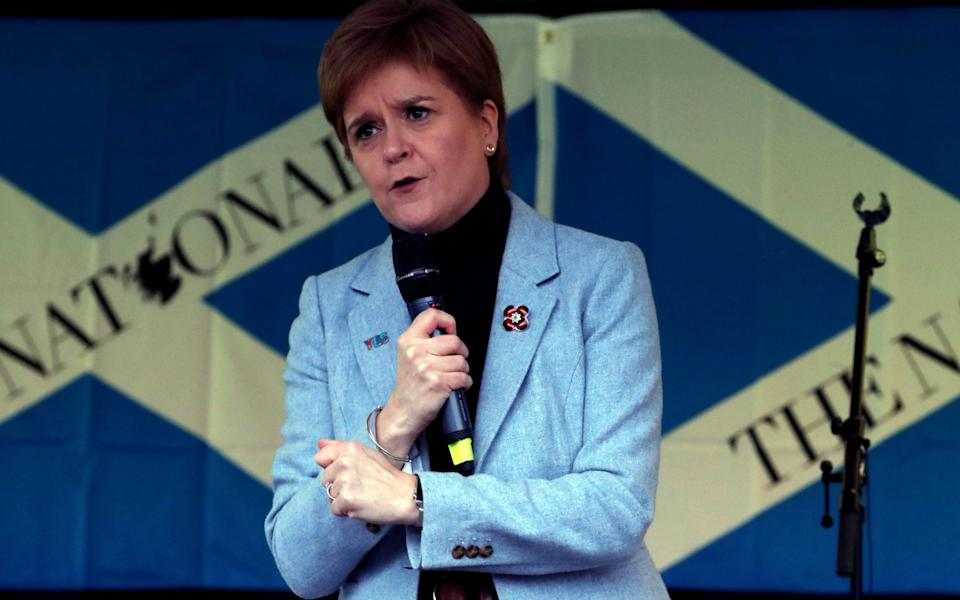 Nicola Sturgeon will urge activists to focus all their efforts on independence - RUSSELL CHEYNE/Reuters