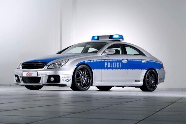 In the 2006 'Tune It Safe!' programme created by German Federal Traffic Ministry and the Association of German Automobile Tuners (VDAT), Brabus unveiled a police car version of CLS V12 S Rocket and quickly became the most publicized of any of Brabus' designs.