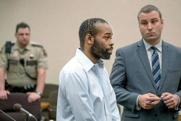 PHOTO: Emmanuel Aranda, who threw a 5-year-old boy over a Mall of America balcony, and his lawyer Paul Sellers, right, listen as the judge hands out a 19-year sentence at the Hennepin County Government Center, June 3, 2019. in Minneapolis, Minn. (Elizabeth Flores/Star Tribune via AP, FILE)
