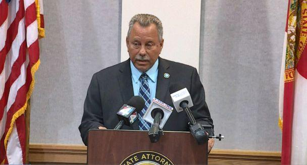 PHOTO: 7th Judicial Circuit State Attorney R.J. Larizza speaks to the press on May 27, 2021, announcing that 14-year old Aiden Fucci will be charged as an adult, with the 1st-degree murder of Tristyn Bailey, in an image taken from WJXX-TV video. (WJXX)