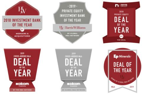 Harris Williams Recognized with Six Industry Awards, Including Two Recognitions as Investment Bank of the Year