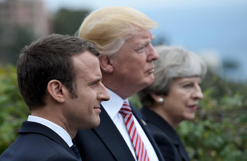 Newly installed French President Emmanuel Macron met world leaders at the G7 last week ahead of his meeting with Russian President Vladimir Putin at Versailles (AFP Photo/STEPHANE DE SAKUTIN)