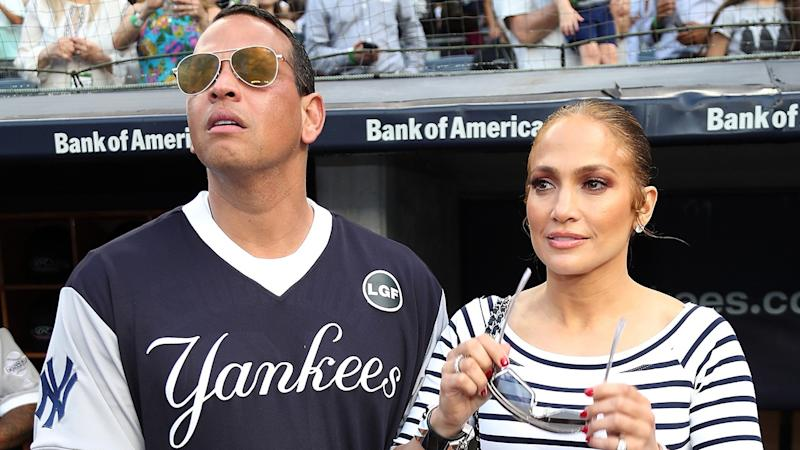 official photos 87af2 b676a Alex Rodriguez Poses With Jennifer Lopez's Younger 'Fan Club ...