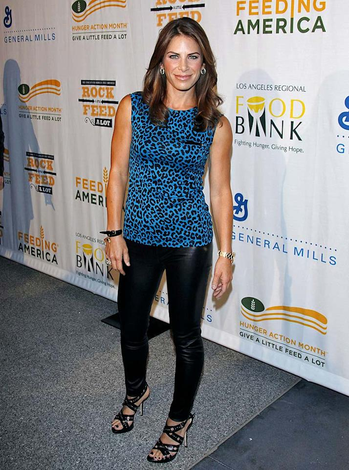 "Also in attendance ... ""Biggest Loser"" trainer Jillian Michaels, who sported a cheetah print top, leather leggings, and sexy heels. Jean Baptiste Lacroix/<a href=""http://www.wireimage.com"" target=""new"">WireImage.com</a> - September 29, 2009"