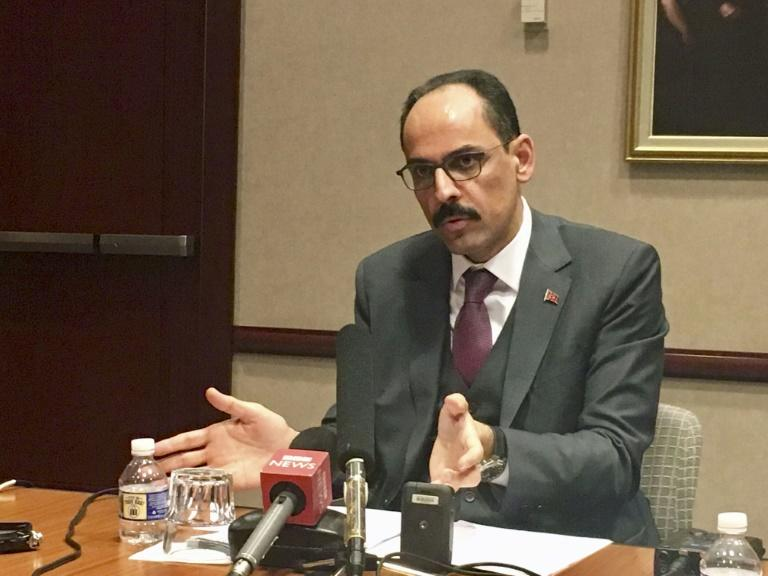 Turkish presidency spokesman Ibrahim Kalin said Washington should use its influence to ensure an orderly pullout of Kurdish forces from the border area