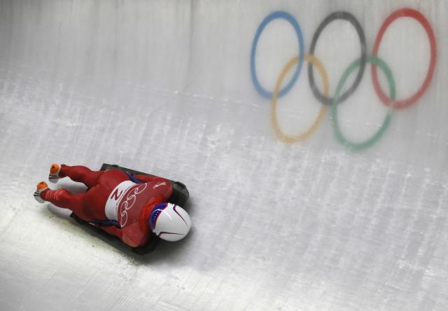 Skeleton - Pyeongchang 2018 Winter Olympics – Women's Finals - Olympic Sliding Center - Pyeongchang, South Korea – February 17, 2018 - Sophia Jeong of Korea in action. REUTERS/Arnd Wiegmann