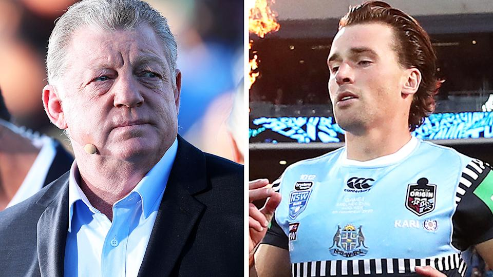 NRL great Phil Gould was scathing in his assessment of Clint Gutherson's performance in State of Origin I, which the Blues lost in a shock upset. Pictures: Getty Images