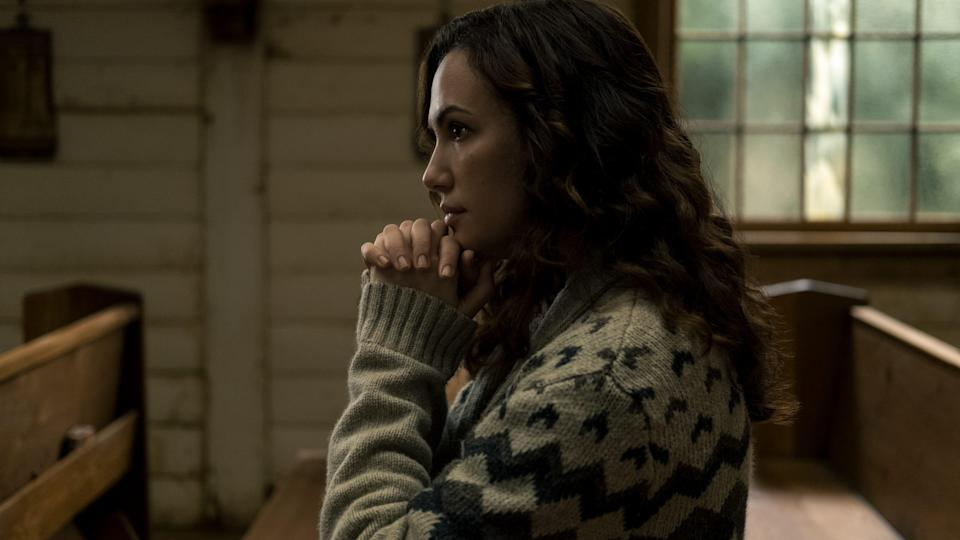 """Erin (Kate Siegel) is wary of the fundamentalism gaining steam in her town in """"Midnight Mass."""""""