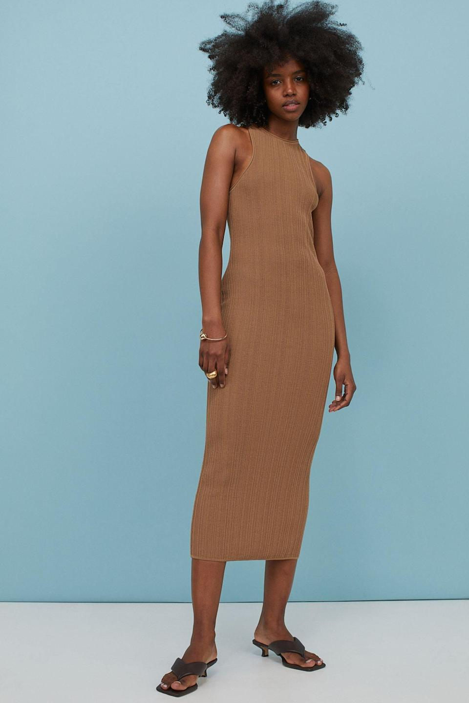 <p>From lounging at home to adventuring in the city, this <span>Rib-knit Dress</span> ($50) can do it all.</p>