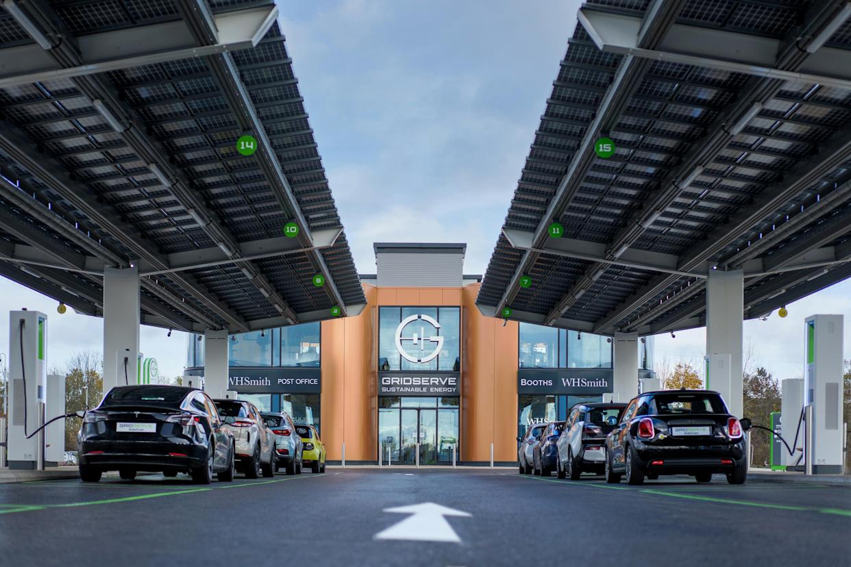 The Gridserve Electric Forecourt in Braintree, Essex