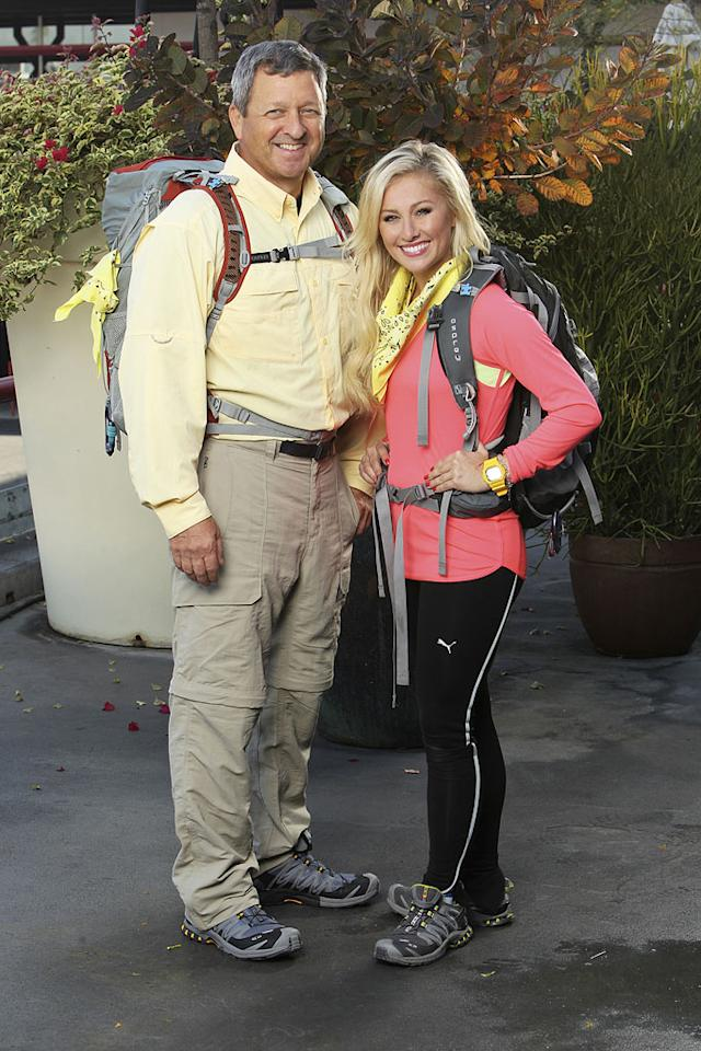 """Gary and Mallory Ervin, Father / Daughter Team race around the world for a second chance to win one million dollars, on """"The Amazing Race: Unfinished Business."""""""
