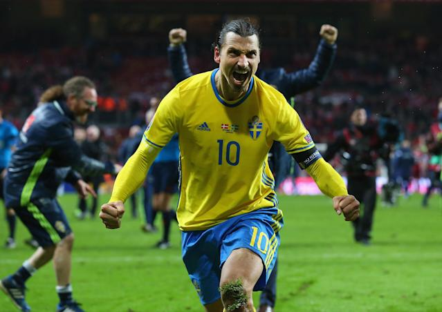 "<a class=""link rapid-noclick-resp"" href=""/soccer/players/zlatan-ibrahimovic/"" data-ylk=""slk:Zlatan Ibrahimovic"">Zlatan Ibrahimovic</a> has not appeared for Sweden since Euro 2016. (Getty)"