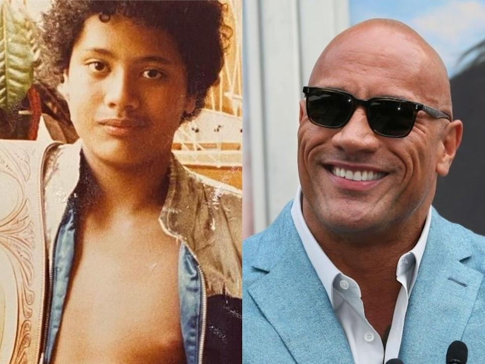 Dwayne Johnson has shared a hilarious throwback photo of his 11-year-old self (Instagram/Jean Baptiste Lacroix/Getty Images)
