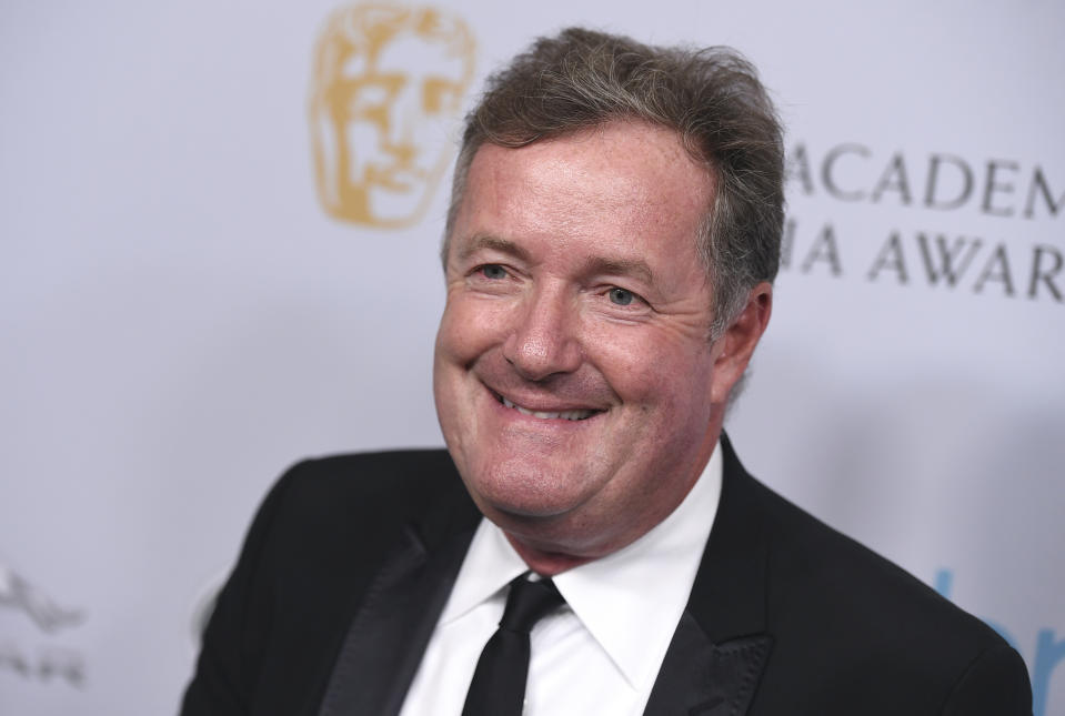 Piers Morgan arrives at the BAFTA Los Angeles Britannia Awards at the Beverly Hilton Hotel on Friday, Oct. 25, 2019, in Beverly Hills, Calif. (Photo by Jordan Strauss/Invision/AP)