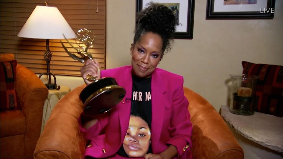 Regina King wore a T-shirt with a picture of Breonna Taylor