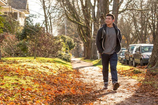 A brief walk can help reset your mind. (Photo: Adam Crowley via Getty Images)