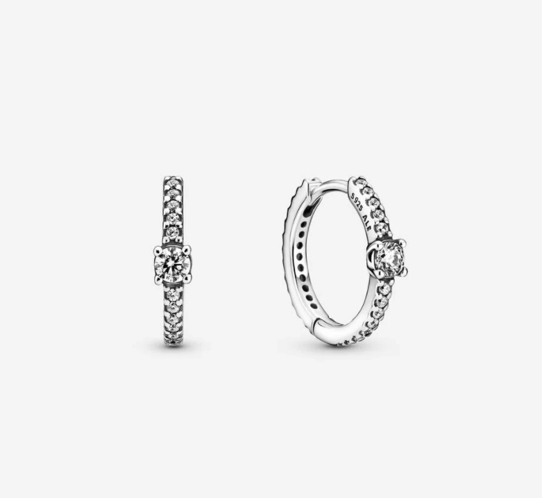 Sparkling Hoop Earrings. Image via Pandora.