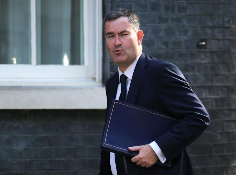 Britain's Justice Secretary and Lord Chancellor David Gauke arrives to attend the weekly meeting of the cabinet at 10 Downing Street in central London on July 23, 2019. - Theresa May chaired her last cabinet meeting ahead of the Conservative Party announcement of who will replace her as head of the party and prime minister. (Photo by ISABEL INFANTES / AFP) (Photo credit should read ISABEL INFANTES/AFP/Getty Images)