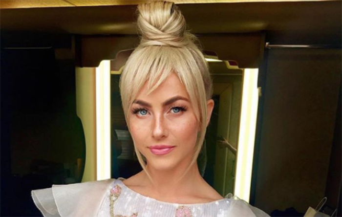 Julianna Hough showing off her tinkerbell hair style