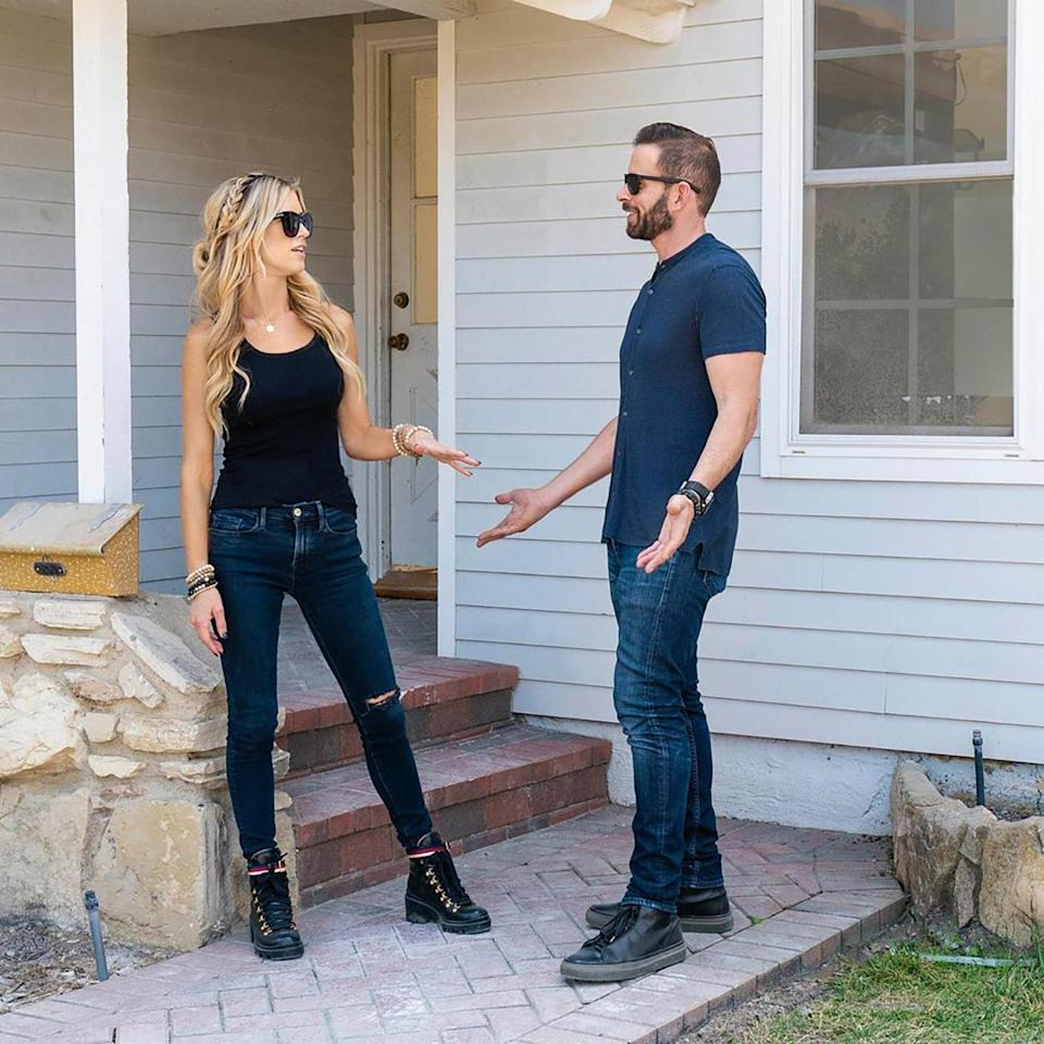 """<p>The pair spoke to <a href=""""https://people.com/home/tarek-christina-el-moussa-open-up-about-working-together-in-first-joint-interview-since-split/"""" rel=""""nofollow noopener"""" target=""""_blank"""" data-ylk=""""slk:Today in 2018"""" class=""""link rapid-noclick-resp""""><i>Today</i> in 2018</a>, breaking their silence in a joint interview after finalizing their divorce. """"It was up and down, up and down,"""" Tarek shared of their decision to continue filming <i>Flip or Flop</i>. """"We shot the pilot in summer of 2011, so we've been doing this for a really long time. It's part of who we are and what we do, and for us to just throw everything away, it just wasn't worth it.""""</p> <p>When asked if it was easier to work together since their break up, El Moussa quipped, """"Oh no, not at all,"""" to which Haack scoffed and replied, """"Oh, god, it is. Just ignore him.""""</p>"""