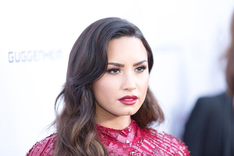 Singer-songwriter Demi Lovato arrives for the Annual Brent Shapiro Foundation For Alcohol And Drug Prevention Summer Spectacular at a Private Residence on September 9, 2017 in Beverly Hills, California.  (Greg Doherty via Getty Images)