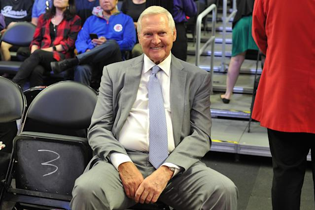 Jerry West. (Photo by Allen Berezovsky/Getty Images)