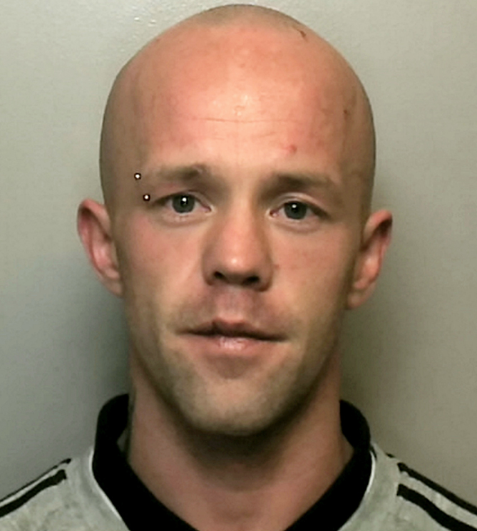 Arrest: Daniel O'Sullivan, 29, was jailed for stabbing Police Dog Audi
