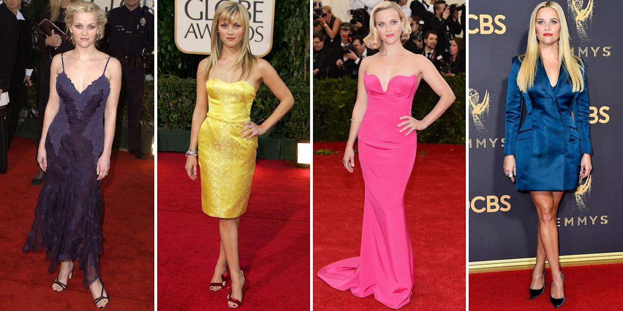 <p>Reese Witherspoon bursted onto the Hollywood scene in 1991. The actress has always kept it simple, feminine and impactful when it comes to her red carpet style. In honor of the acclaimed actress' 44th birthday, see her best sartorial hits. <em></em></p>