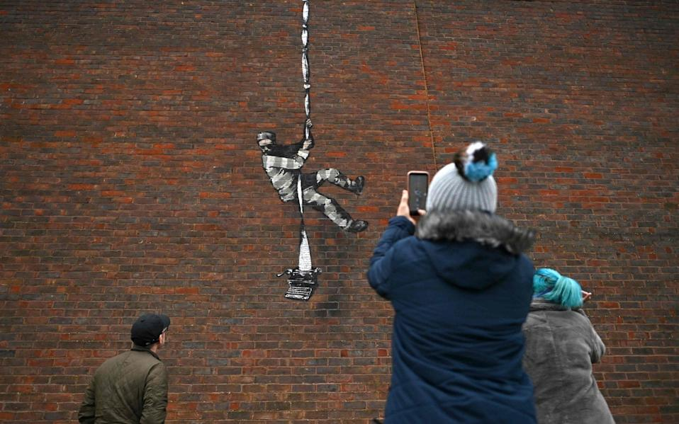 The Bansky painting on the side of Reading Jail