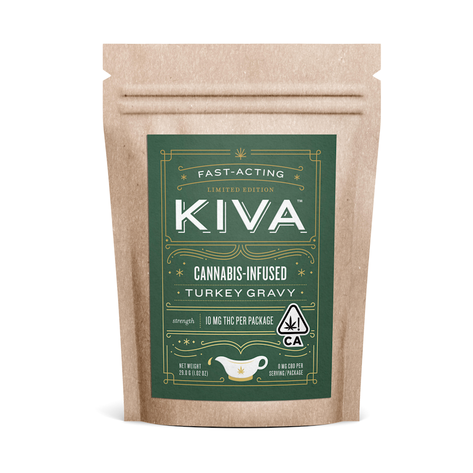 """Kiva's cannabis-infused turkey gravy promises to be """"fast-acting."""" But if you can't get your hands on it, we've got plenty of ways to try cannabis cooking at home. (Photo: Courtesy of Ashley Weber/ AutumnCommunications)"""