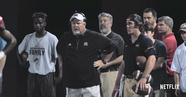 East Mississippi Community College coach Buddy Stephens. (via Netflix)