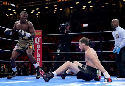 Peter Quillin knocked down Andy Lee during their April draw. (Getty)