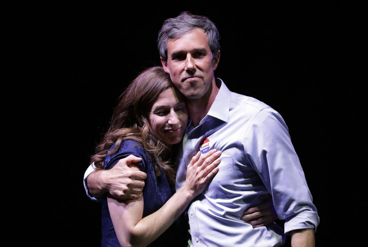 Beto O'Rourke and his wife, Amy Sanders, on election night, after he was defeated by Sen. Ted Cruz. (Photo: Eric Gay/AP)