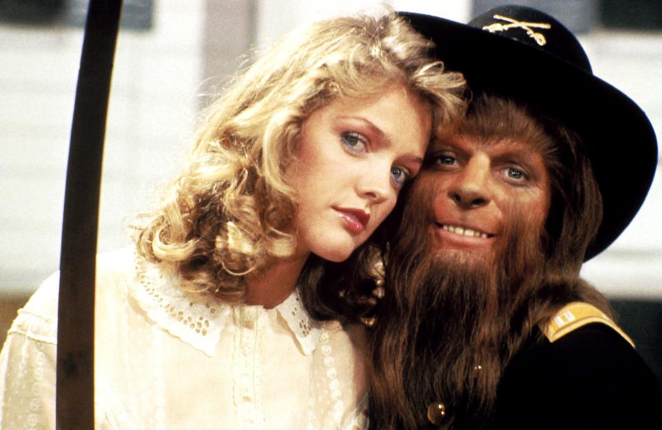 Lorie Griffin and Fox in <em>Teen Wolf</em>. (Photo: MGM/courtesy Everett Collection)