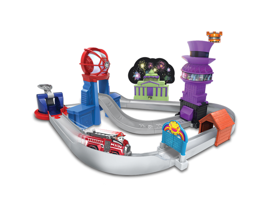 <p>With a new PAW Patrol movie coming to theaters this summer, kids are going to want to break out their pups and race them all around the city. This playset works with the True Metal die-cast vehicles, and it features locations from the movie that each have their own action feature. For true fans, there's also a separate, 36-inch-tall lookout tower on the way designed to look the the one in the movie.</p><p><em>3+<br>$40<br>Available Fall 2021</em></p>
