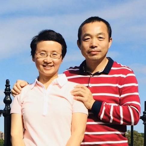 Ding Jiaxi (right) was a lawyer specialising in human rights cases before he was jailed and lost his licence in 2014. Photo: Handout
