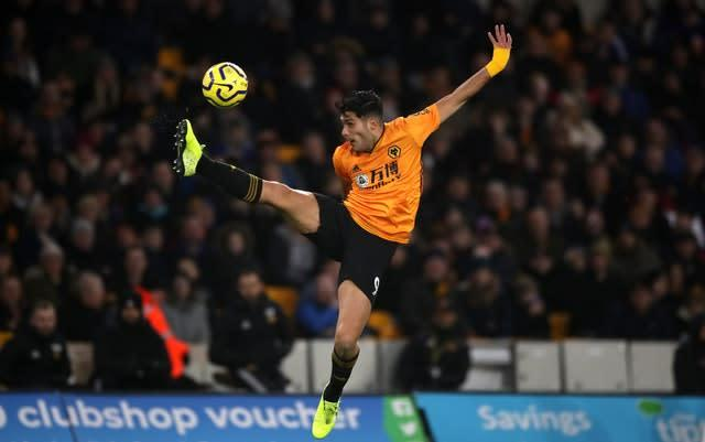 Raul Jimenez showed some excellent control (Nick Potts/PA)