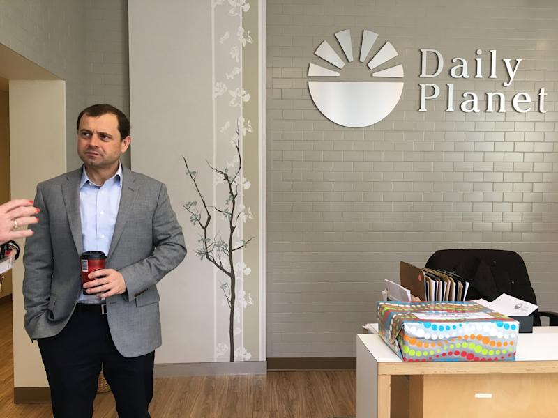 Perriello tours the Daily Planet community health center in Richmond, Va., on March 24.