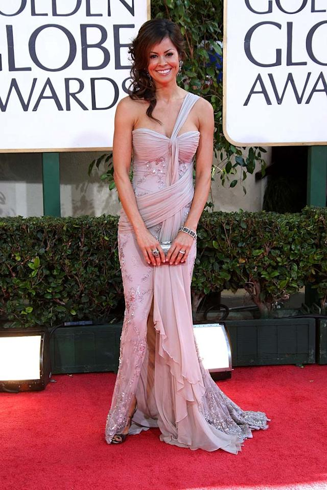 """Dancing With the Stars"" champ Brooke Burke waltzed her way onto the Worst Dressed list thanks to her poorly-draped dress and overly-styled 'do. Frazer Harrison/<a href=""http://www.gettyimages.com/"" target=""new"">GettyImages.com</a> - January 11, 2009"