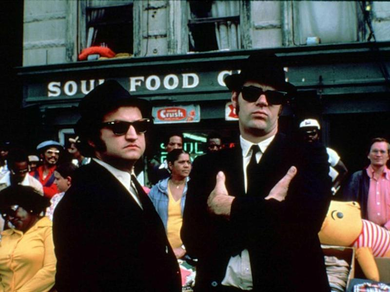 Type specifics: John Belushi (left) and Dan Aykroyd in The Blues Brothers