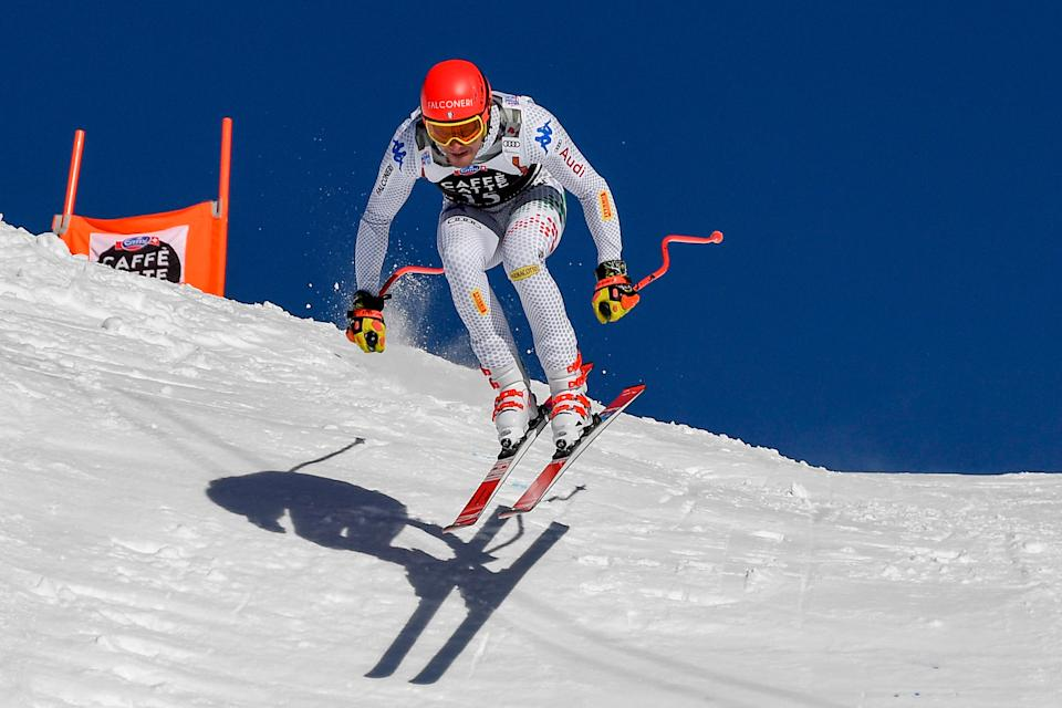 Italy's Christof Innerhofer competes in the Men's Downhill of the Lauberhorn during the FIS Alpine Ski World Cup, on January 19, 2019, in Wengen. (Photo by Lionel BONAVENTURE / AFP)        (Photo credit should read LIONEL BONAVENTURE/AFP via Getty Images)
